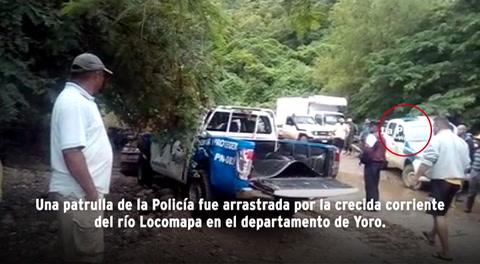 Mueren tres personas, entre ellas dos policías, al ser arrastrados por corriente en Yoro