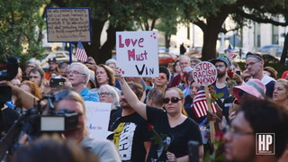 Houston Holds Vigil For Charlottesville Victims