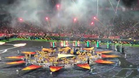 Fragmento del show de Dua Lipa en la final de la Champions
