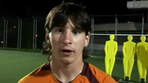 Messi ya avisaba en 2005 que recordarían su nombre