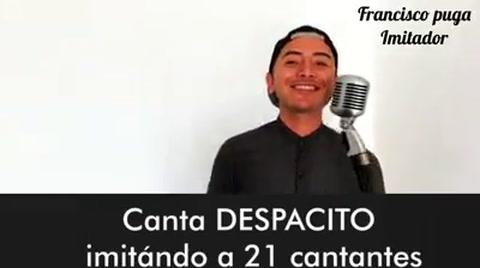 Imitador canta 'Despacito' con 21 voces de artistas