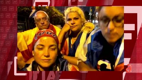 Tres cubanas de Miami están en huelga de hambre frente a la sede de la ONU en New York