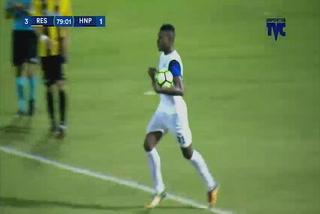 Yerson Gutiérrez anota el 2 - 3 de Honduras Progreso ante Real España