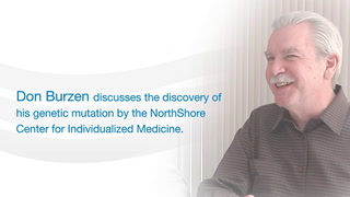 Don Burzen and his physicians discuss the discovery of his genetic mutation by the Northshore Center for Individualized Medicine.