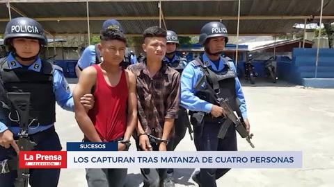 Los capturan tras matanza de cuatro personas entre ellos dos niños