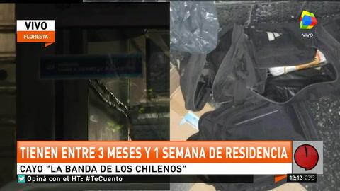 Cinco chilenos fueron capturados al intentar robar un banco en Floresta