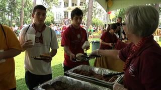 Florida State University welcomes the class of 2017 with the annual President's Backyard BBQ