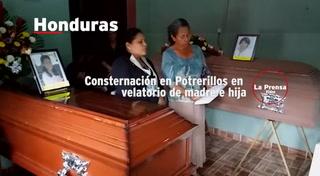Consternación en Potrerillos en velatorio de madre e hija