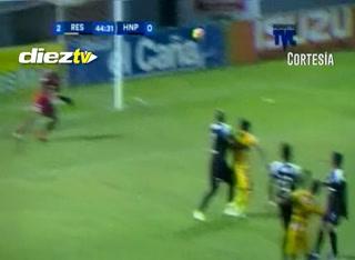 GOOOOOOOOOOL de Real España, Altamirano hace el 2-0 con un remate de derecha y colocado al palo más alejado