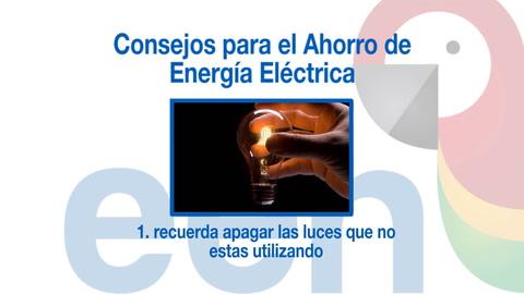Consejos de ahorro de energía EEH