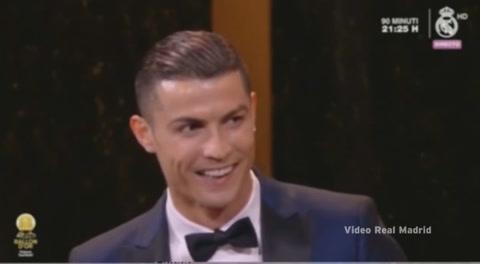 La broma de Cristiano a Georgina en la gala del Balón de Oro 2017