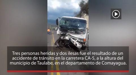 Tres heridos en accidente de tránsito en Taulabé