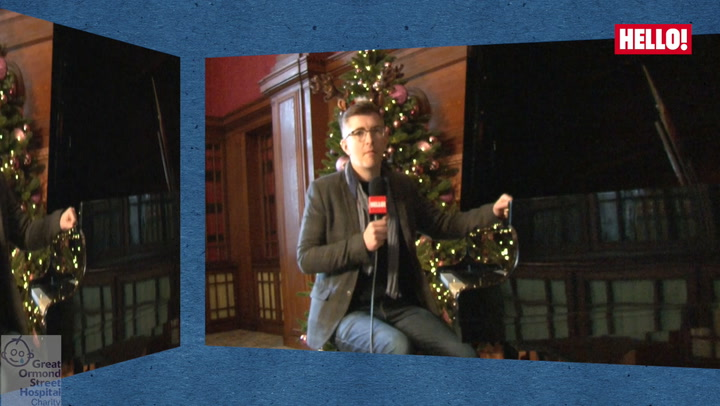 Choir master Gareth Malone shakes his jingle bells as he prepares for a chart-topping Christmas with HELLO!