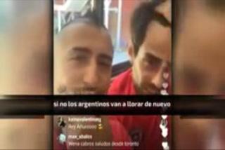 Así calentó Arturo Vidal a la Selección Argentina
