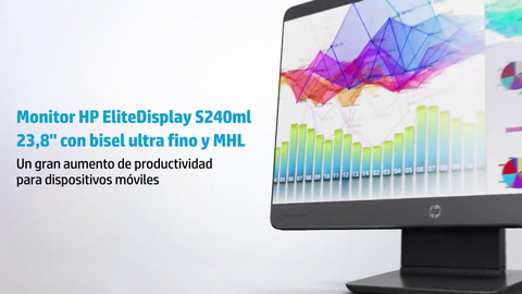 HP EliteDisplay S240ml Ultra-slim Bezel MHL Monitor - Español