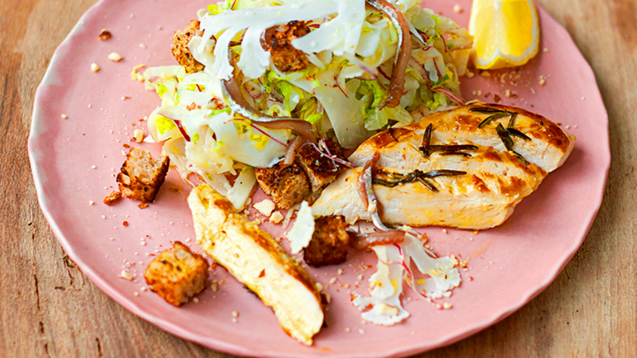Jamie's healthy chicken Caesar