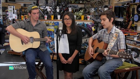 Three middle school students create great original music