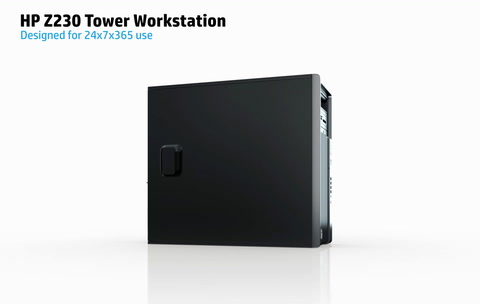 HP Z230 Tower Workstation Animation