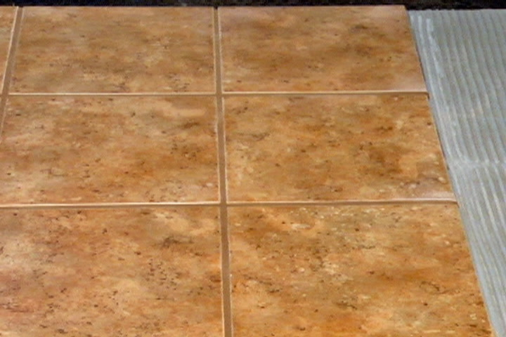 Ceramic tile on plywood subfloor