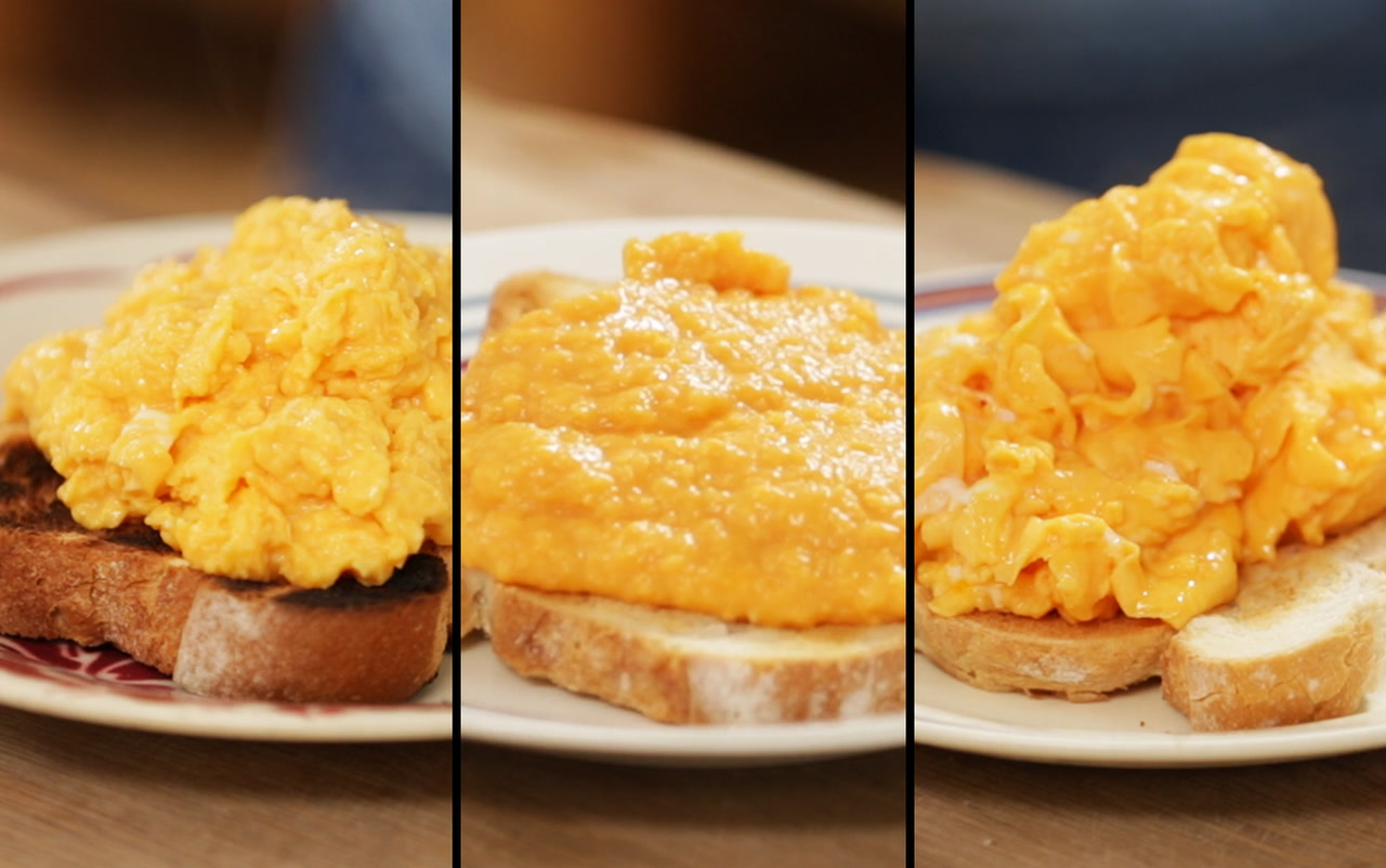 How to make perfect scrambled eggs - 3 ways!