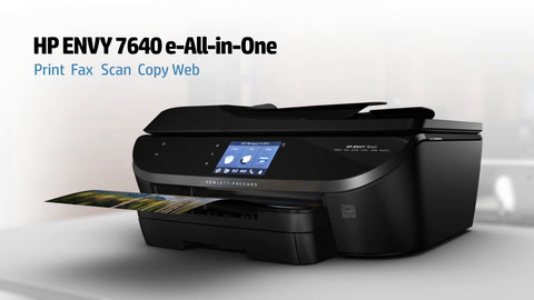 HP ENVY 7640 e-All-in-One Printer Series Overview