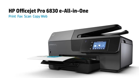HP Officejet Pro 6830 e-All-in-One Printer Series Overview