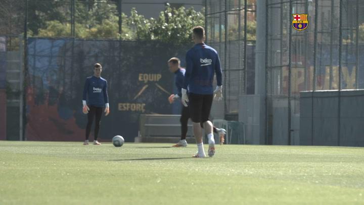 El Barça se entrena con Messi a tope a cuatro días de la visita al Mallorca