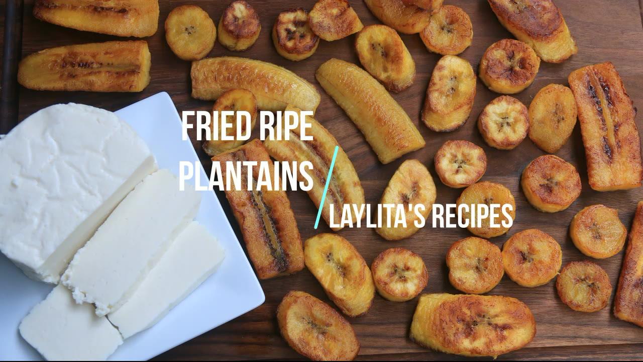 Fried Ripe Plantains Platanos Maduros Fritos Latin Recipes
