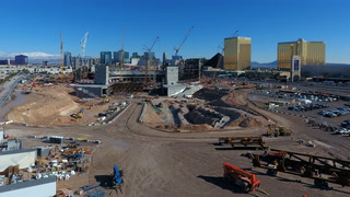 Raiders stadium construction not slowed by rain and snow