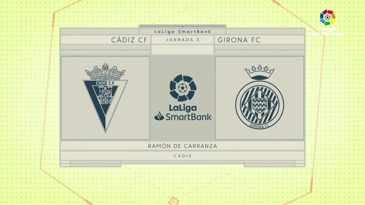 LaLiga SmartBank (J5): Resumen y goles del Cádiz 2-0 Girona