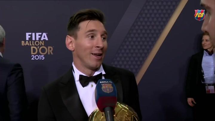 Las palabras de Messi cuando ganó su quinto Balón de Oro en 2015