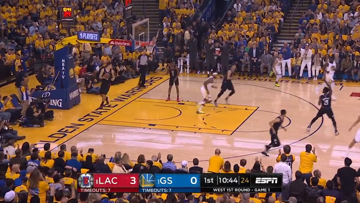 Stephen Curry (Warriors), el jugador más destacado de la jornada de la NBA