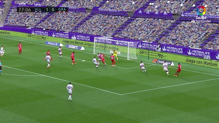 Gol de Jorge Molina (1-1) en el Valladolid 1-2 Granada