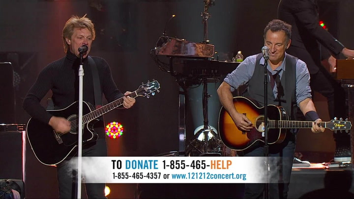 Bon Jovi & Bruce Springsteen Perform 'Who Says You Can't Go Home' - 12-12-12 The Concert for Sandy Relief