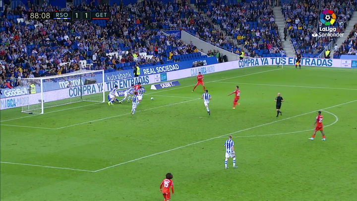Gol de Maksimovic (1-2) en el Real Sociedad 1-2 Getafe