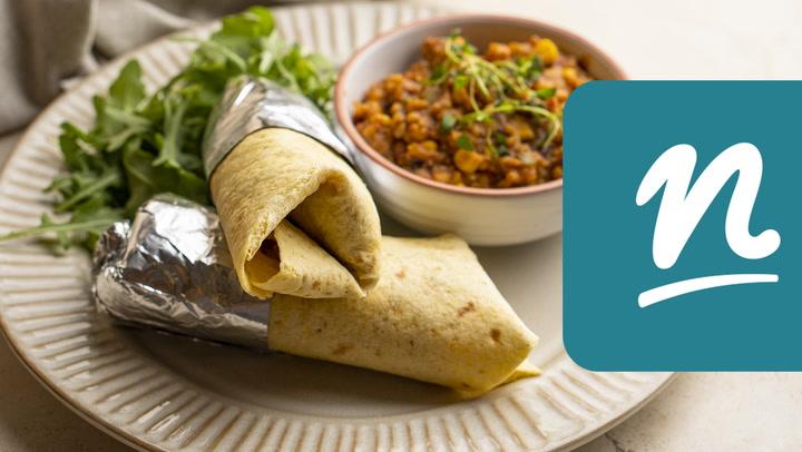 Csirkeszárnyas burrito videó