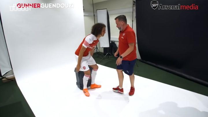 Matteo Guendouzi's First Day At Arsenal