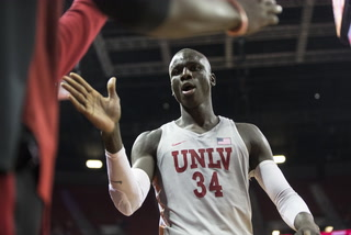 UNLV's Mbacke Diong on his offensive improvement