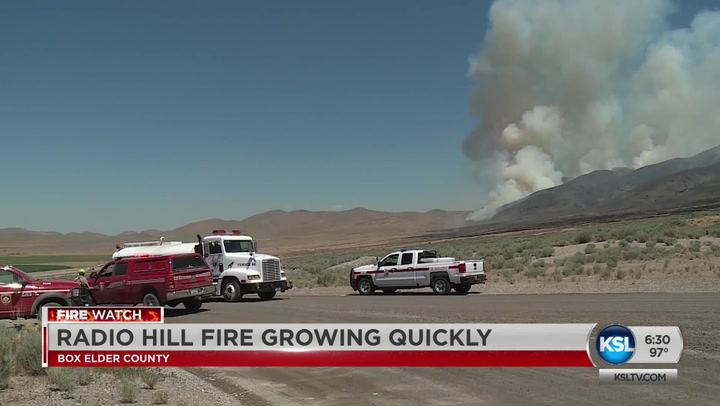 Radio Hill Fire In Box Elder County Grows To Over 2,300 Acres