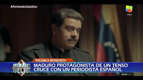 El incómodo momento que vivió Maduro con un periodista español