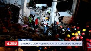 Terremotos deja muertos y atrapados en derrumbes