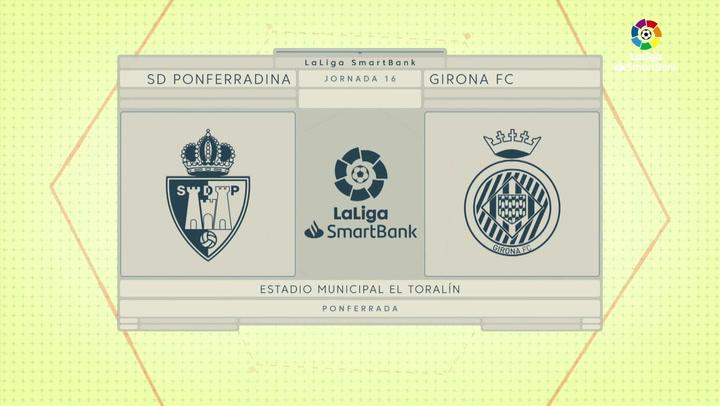 LaLiga SmartBank (J16): Resumen y goles del Ponferradina 1-1 Girona
