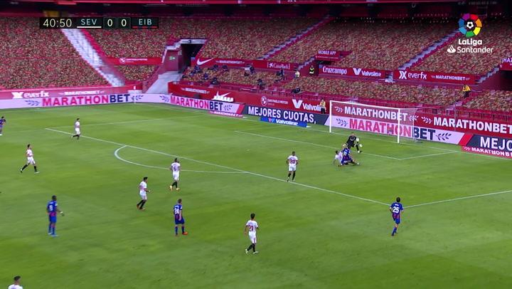 Gol de Kike García (0-1) en el Sevilla 0-1 Eibar