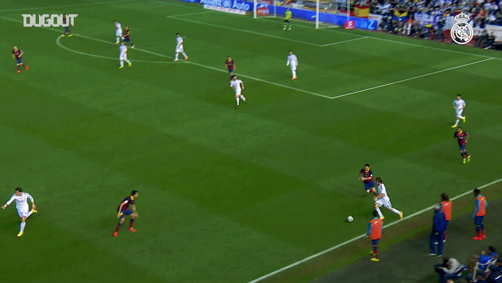 Gareth Bale's speedy goal vs Barcelona in the Copa del Rey final