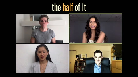 Leah Lewis, Daniel Diemer and Alexxis Lemire spill on the love triangle in 'The Half of It'