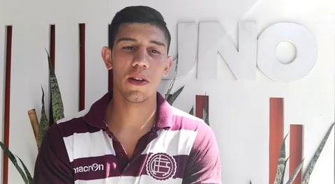 Enzo López firmó su primer contrato en Lanús y sueña con debutar en Primera