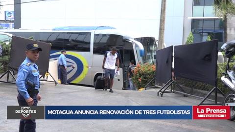 Motagua anuncia renovación de tres futbolistas