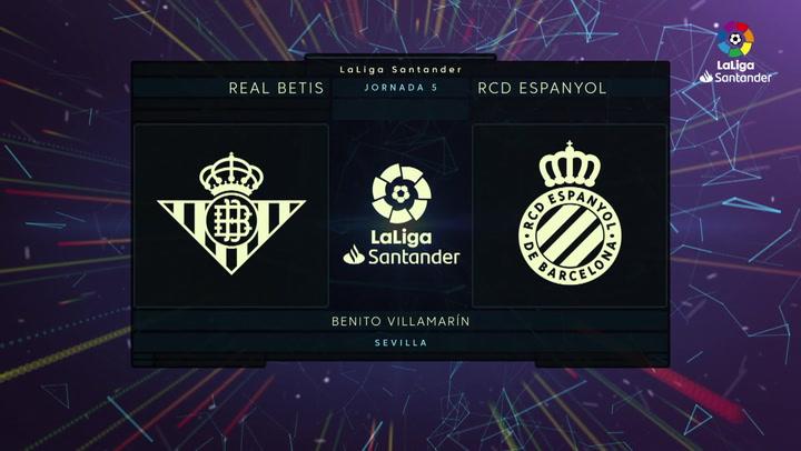 LaLiga (J5): Resumen y goles del Betis 2-2 Espanyol