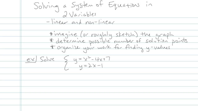 Solving a System of Linear Equations in Two Variables - Problem 17