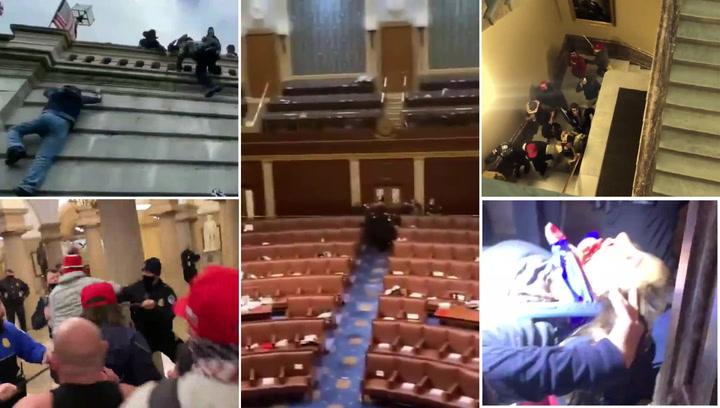 Inauditas e impactantes imágenes del asalto al Capitolio por seguidores de Trump